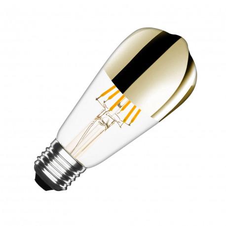 Ampoule LED E27 Dimmable Filament Gold Reflect Big Lemon ST64 7.5W