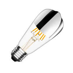 Ampoule LED E27 Dimmable Filament Chrome Reflect Big Lemon ST64 7.5W