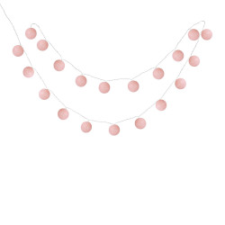 Guirlande 20 Boules LED Pink Sugar