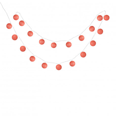Guirlande 20 Boules LED Red Sugar