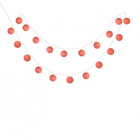String of 20 Balls LED Red Sugar