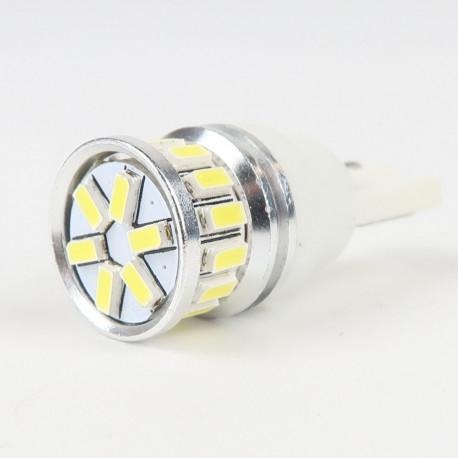Eclairage LED pour voiture et moto : Ampoule LED T10 Anti-Erreur OBD 20 Leds Blanches 10-30V