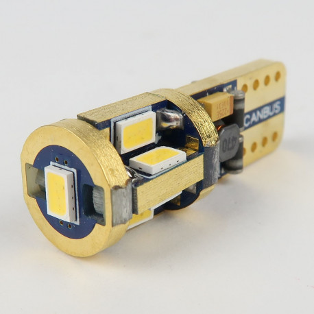 Eclairage LED pour voiture et moto : Ampoule LED GOLD SuperCanbus T10 - W5W 9 leds 12V