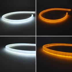 Bandes LED Clignotants séquentiels dynamiques blanc + orange