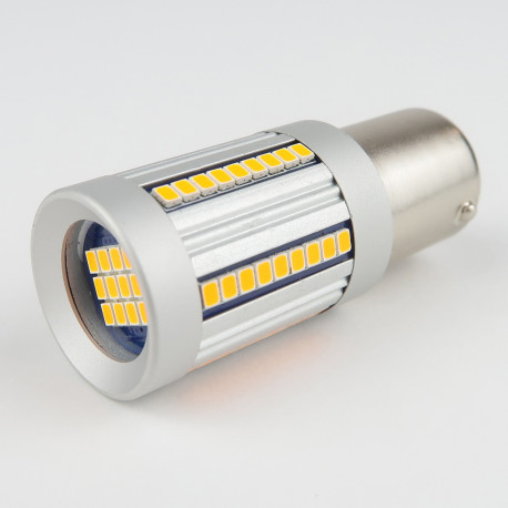 LED Bulb CANBUS BAU15S PY21W 135 Leds SMD4014 1300Lm