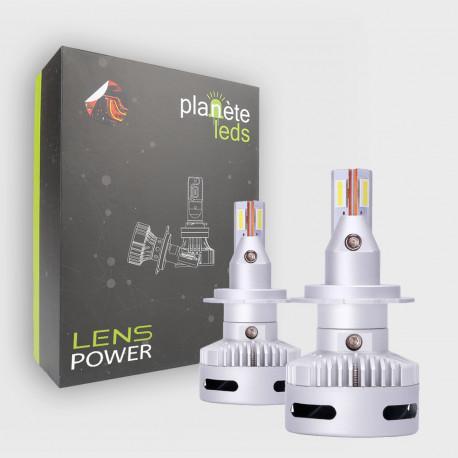 Kit LED H7 8000Lm Lens Power 6000°K Ventilé