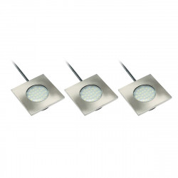 Pack of 3 Fixtures Led Marbella Square 3X 1,5W Ip20 240Lm Aluminum