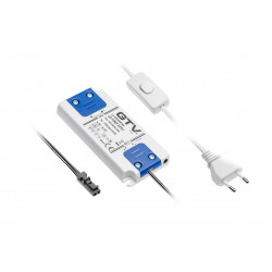 Transformateur Led Avec Connecteur Mini Amp Femelle 12 V