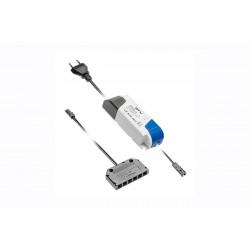 Transformateur Led 12V Avec Cable Secteur Et Distributeur Mini Amp 6 sorties