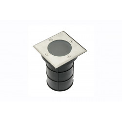 Recessed floor light fixture Alfa-K Square Gu10 Ip67 Inox
