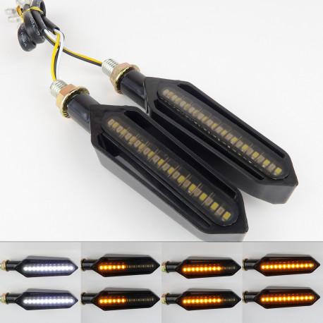 Clignotant moto défilant LED 24 LEDS V3 Clignotant + Veilleuse
