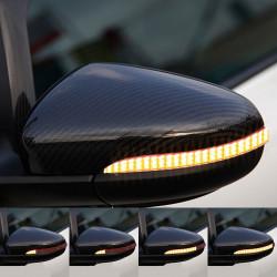 Clignotants à défilement LED pour rétroviseurs Volkswagen Golf 5, Passat B6...