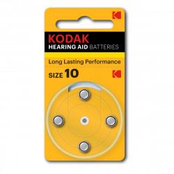Pile pour appareil auditif P10 Kodak - Lot de 4