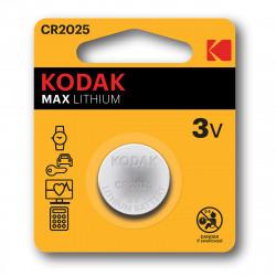 Pile bouton CR2025 Kodak Max Lithium - Lot de 2