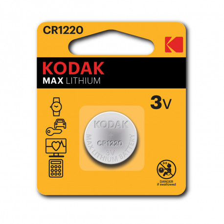 Kodak CR1220 Lithium button cell - Pack of 2