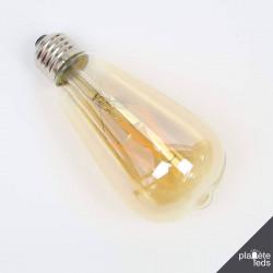 Ampoule LED E27 filament ST64 6W 400lm 4500K Dimmable