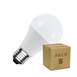 Pack 5 LED Bulbs A60 9W