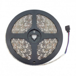 5m RGB LED Strip 24V DC, SMD5050, 60LED/m, IP65 + Power Supply and Controller