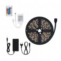 Kit Ruban LED 70W 60LED/m 5m IP65 RGB avec Télécommande, Contrôleur et Bloc d'Alimentation