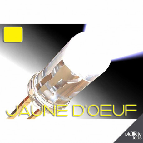 Led ColorPrecision 5mm JAUNE D'OEUF
