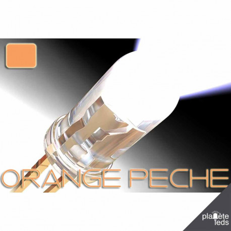 Led ColorPrecision 5mm ORANGE PECHE