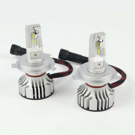 Ampoule à led pour voiture et moto : Kit LED H4 Haute Puissance 5000Lm 6000K Ventilé