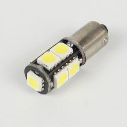 Eclairage LED pour voiture et moto : Ampoule Led BAX9S/H6W Anti-Erreur OBD 9 Leds Blanches
