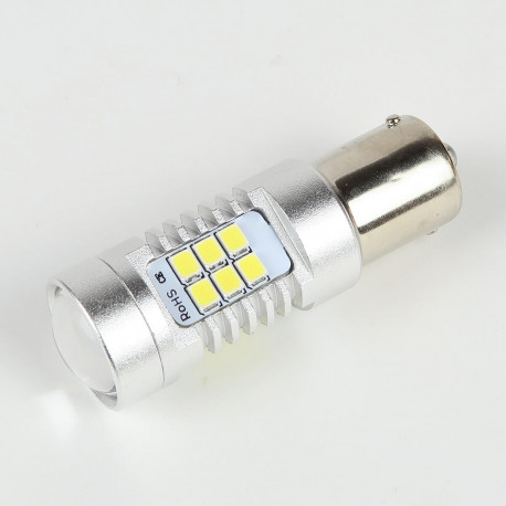 Ampoule LED BA15S 1156 P21W Canbus 21 leds 10-30V