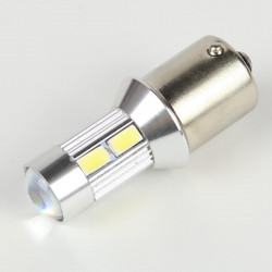 BA15S LED Bulb 10 White LEDs 5730 CANBUS
