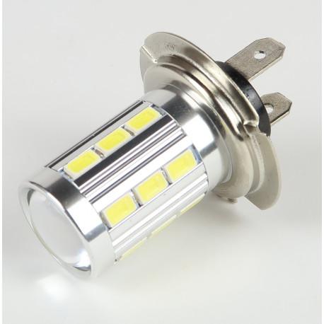 Eclairage LED pour voiture et moto : Ampoule led H7 Blanche CANBUS 21 LEDs 5730