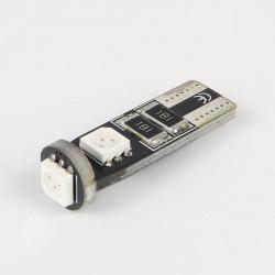Ampoule led T10 Rouge Anti-Erreur OBD 3 Leds