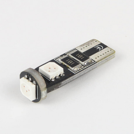 Eclairage LED pour voiture et moto : Ampoule T10 Orange Anti-Erreur OBD 3 Leds