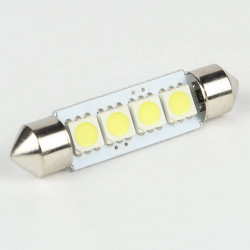 Ampoule led Navette C5W 4 Leds SMD5050 41 mm FIRST