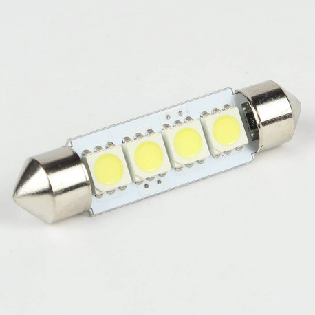 Ampoule Navette C5W 4 Leds SMD5050 41 mm FIRST