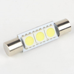 Fuse Festoon 29mm 3-SMD 5050 Bulbs White LED Light
