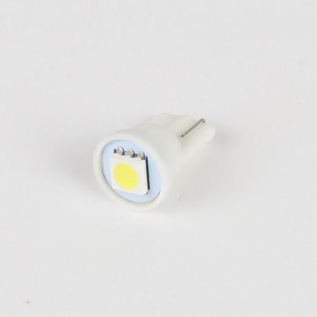 Eclairage LED pour voiture et moto : Ampoule LED T10 - W5W 1 LED SMD Blanche