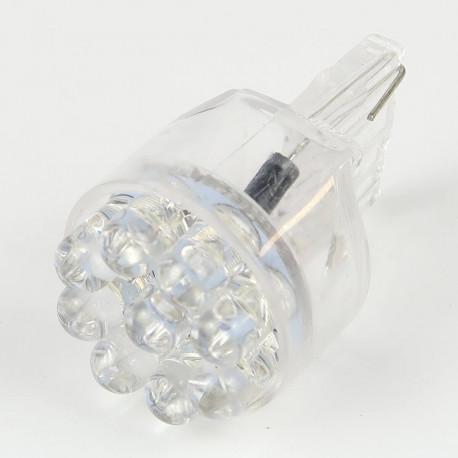 Eclairage LED pour voiture et moto : Ampoule LED T20 - W21W - 9 LEDs Bleues