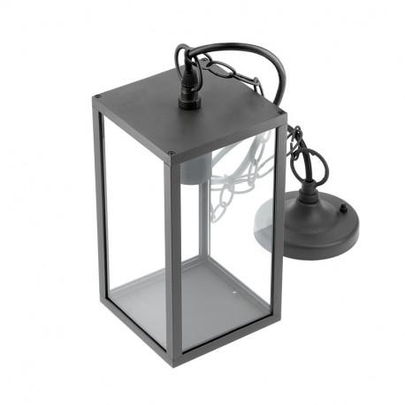 Luminaire de jardin VENTANA E27 Aluminium et verre à suspendre