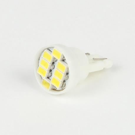 Eclairage LED pour voiture et moto : Ampoule Led T10 8 Led SMD Blanche 6V