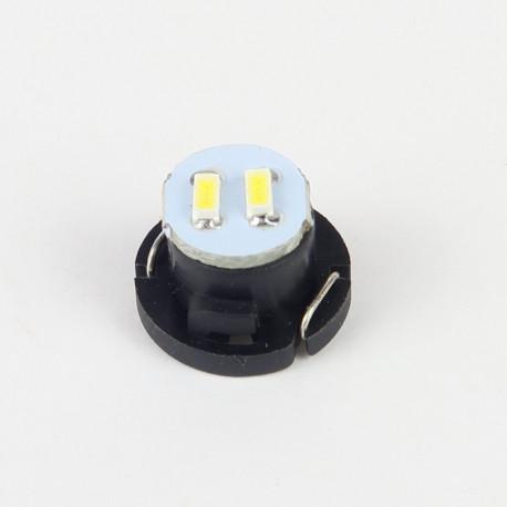 Eclairage LED pour voiture et moto : Ampoule Led T4.7 2 Led SMD3014 22Lm Blanche