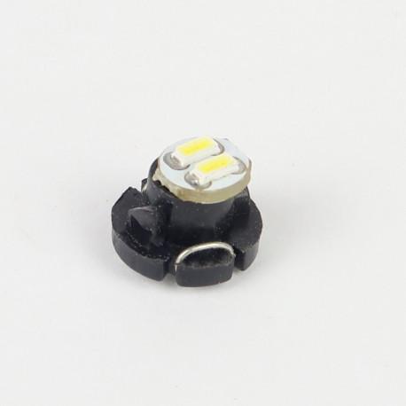 Eclairage LED pour voiture et moto : Ampoule Led T4.2 2 Led SMD3014 22Lm Blanche