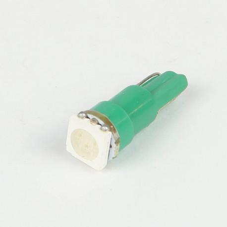 Eclairage LED pour voiture et moto : Ampoule Led T5 - W1.2W - 1 Led SMD5050 Verte
