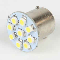 Ampoule Led BA15S - 1156/1157 - 9 Leds Blanches