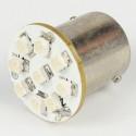 Ampoule Led BA15S - 1156/1157 - 9 Leds Rouge