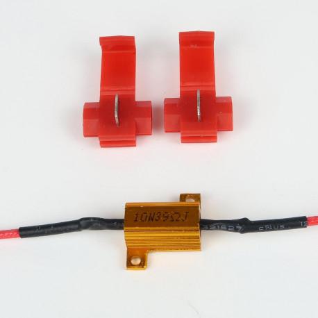 Accessoires LED pour voiture et moto : Résistance Anti-Erreur ODB 10W Pré-Cablé