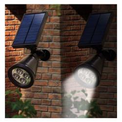 Spot LED solaire crépusculaire à planter