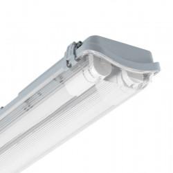 Kit Réglette Étanche Slim PC/PC avec 2 Tubes LED T8 Connexion Latérale 1200mm 18W