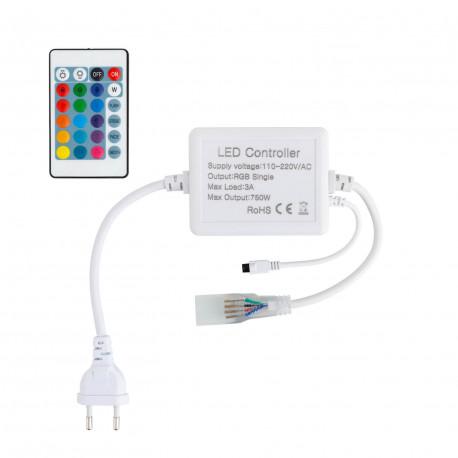 Controller Ribbon RGB LED 220V AC IR Remote control 24 Keys