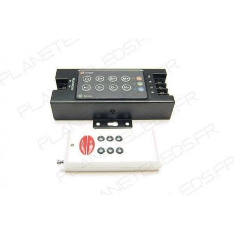 Contrôleurs et dimmers pour installation LED : Controleur RGB 3*4A + Télécommande