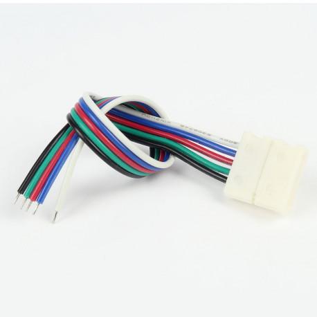 Accessoires pour bande LED : Connecteur àCâble RGB+W 12mm (Pour bande flexible)